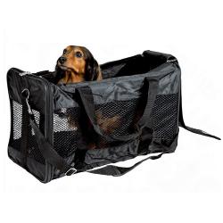 Transportin/bolso color gris para perros y gatos