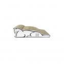 Saco peluche para gatos TRIXIE Leika 25x27x45 cms. Beige-blanco